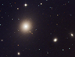 M87, cropped and enlarged image