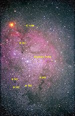 IC1396 labeled image