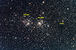 Double Clusterand Barnard 201, labeled image