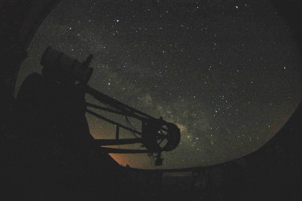 Milky Way rising at the old Grasslands Observatory